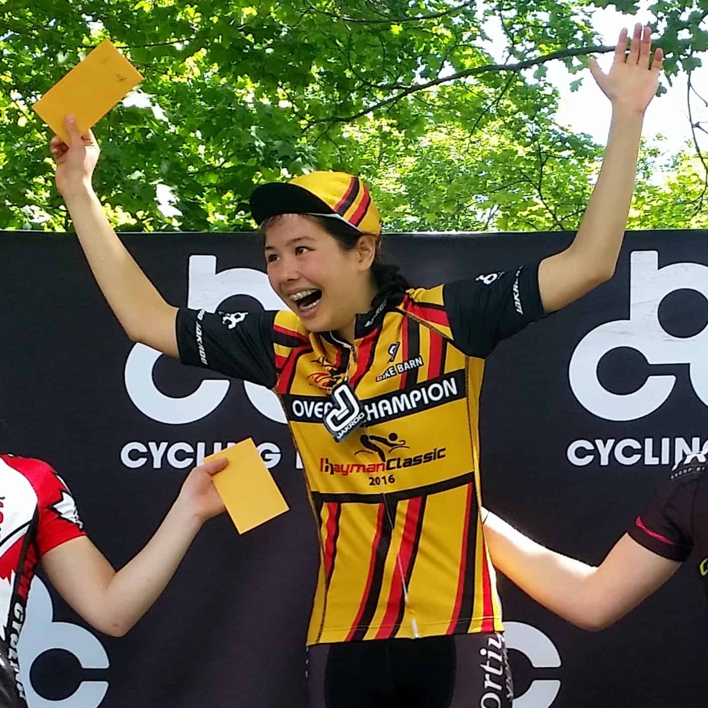 Elizabeth Gin was the Hayman Classic overall Omnium Champion in 2016