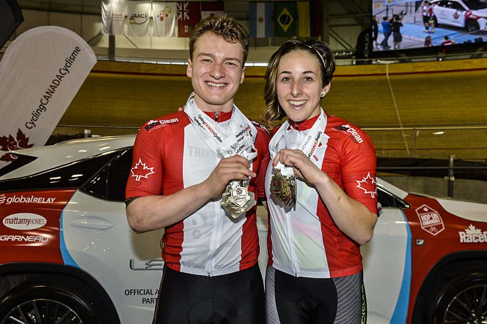 Riley Pickrell won multiple national titles at Canadian Track Championships earlier this year.