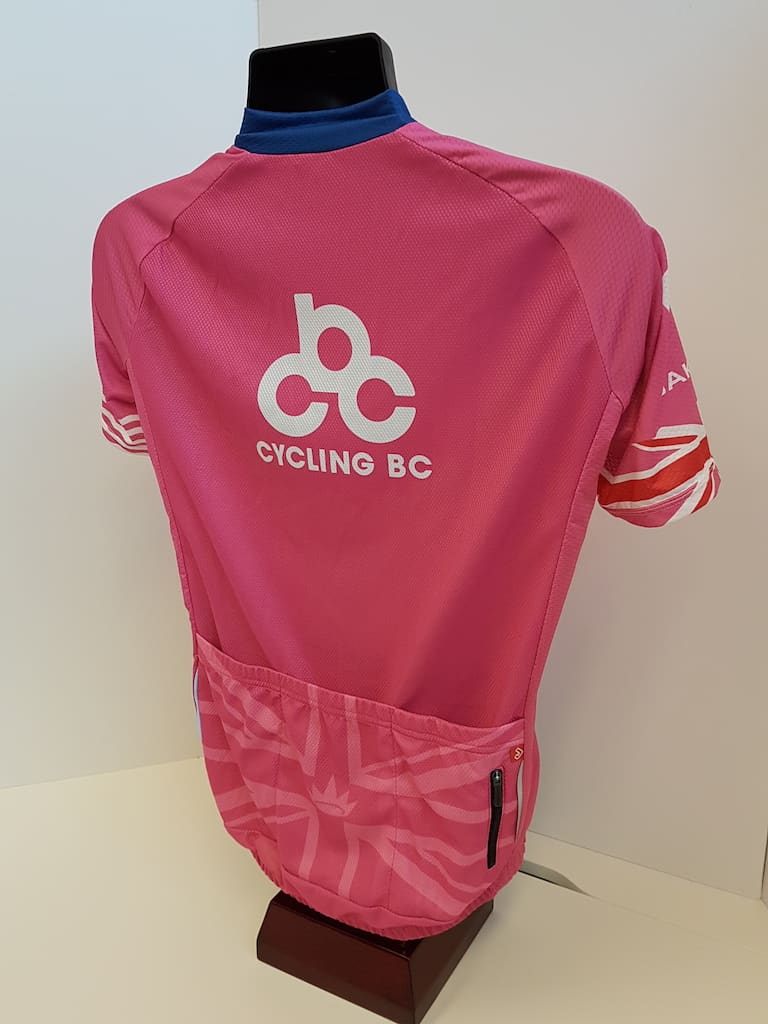 Cycling BC Pink Jersey by Jakroo - Back