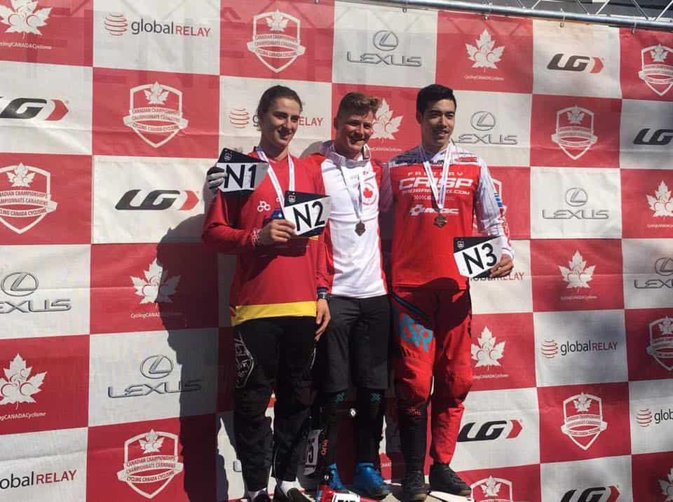 Elite Men's Podium at the 2018 Canadian BMX National Championships