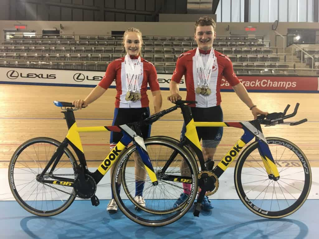Riley Pickrell Sarah Van Dam Junior World Track Championships Team Canada