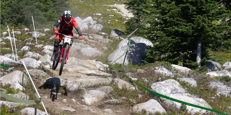 Big White Downhill Mountain Bike Racer