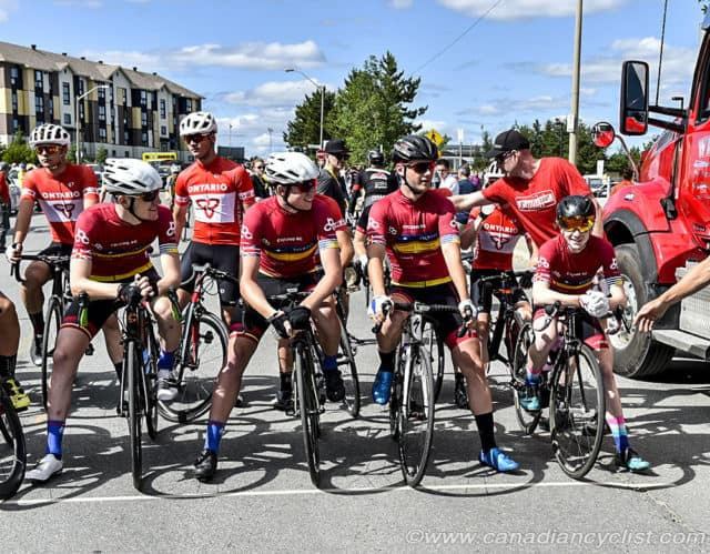 Cycling BC Road Team at Start Line