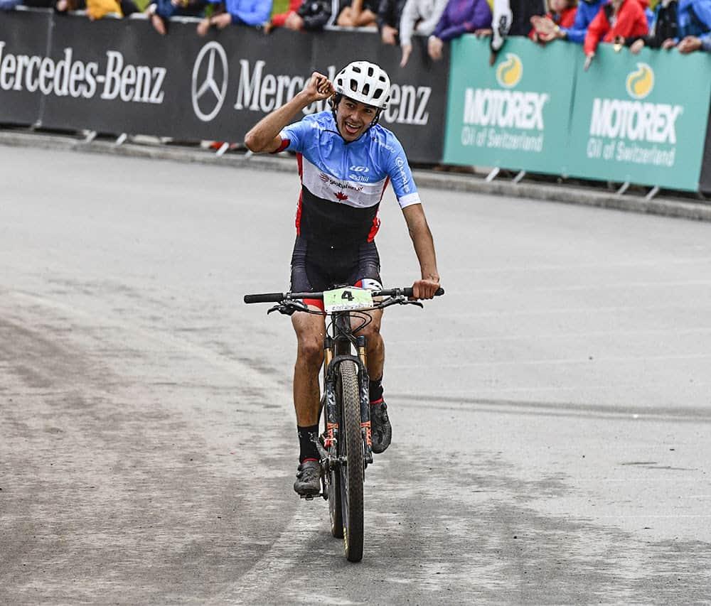 Holden Jones at the Mountain Bike World Championships