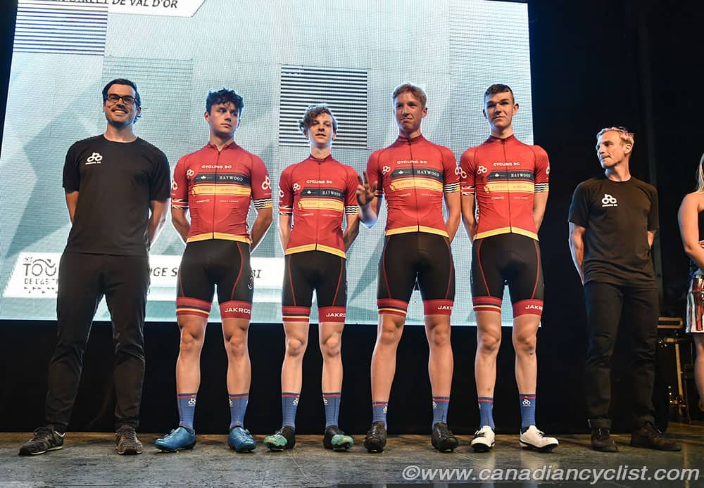 Cycling BC Team Presentation on Stage