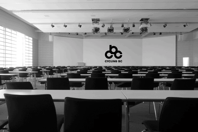 Meeting Room with Cycling BC logo