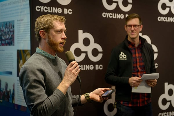 Matt Hornland of the Vancouver Cyclocross Coalition (VCXC) and Cory Ostertag of Cycling BC. Photo credit: Rob Shaer