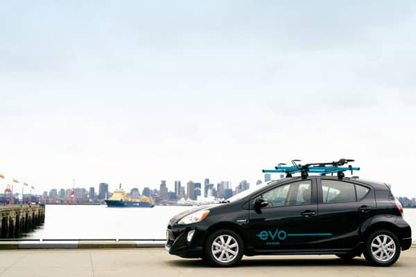 Photo of Evo Toyoto Prius overlooking Burrard Inlet