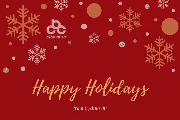 Happy Holiday Card from Cycling BC