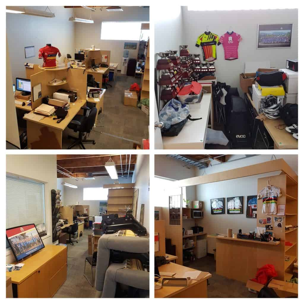 Photo collage of the old Cycling BC office.