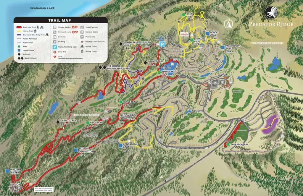 Predator Ridge Trail Map