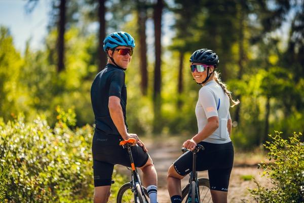 Jacob and Ana on their bikes.