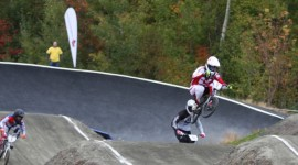 Both Nyhaug and Walsh repeat victories at Canadian BMX Championships. Photo by Guy Napert-Frenette/Cycling Canada.
