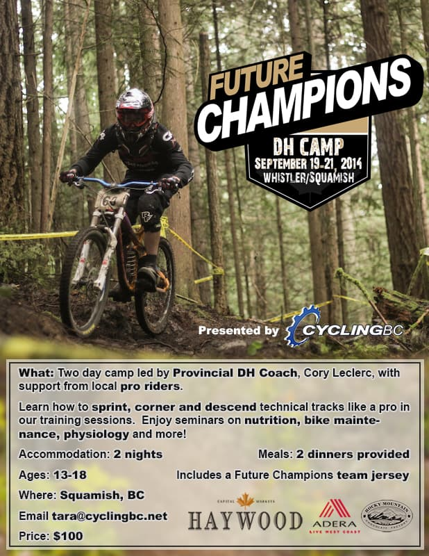 Future Champions DH Camp @ Squamish | British Columbia | Canada