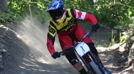 Men's DH National Champion Steve Smith. Photo courtesy of Guy Napert-Frenette/CyclingCanada.